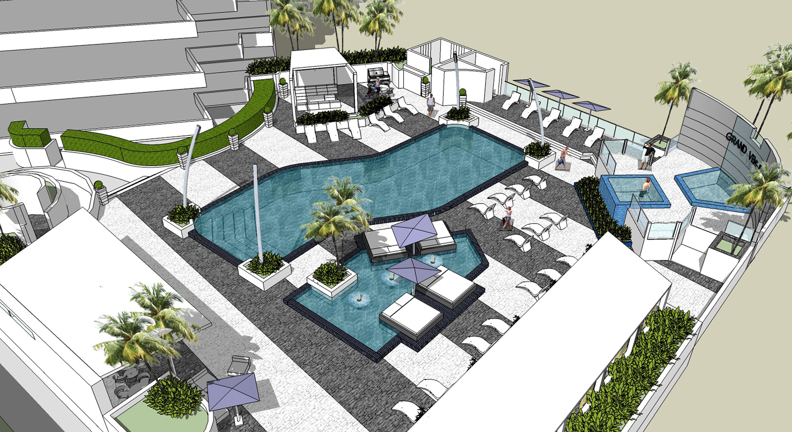 Fort Lauderdale Commercial Architect hotel pool photo
