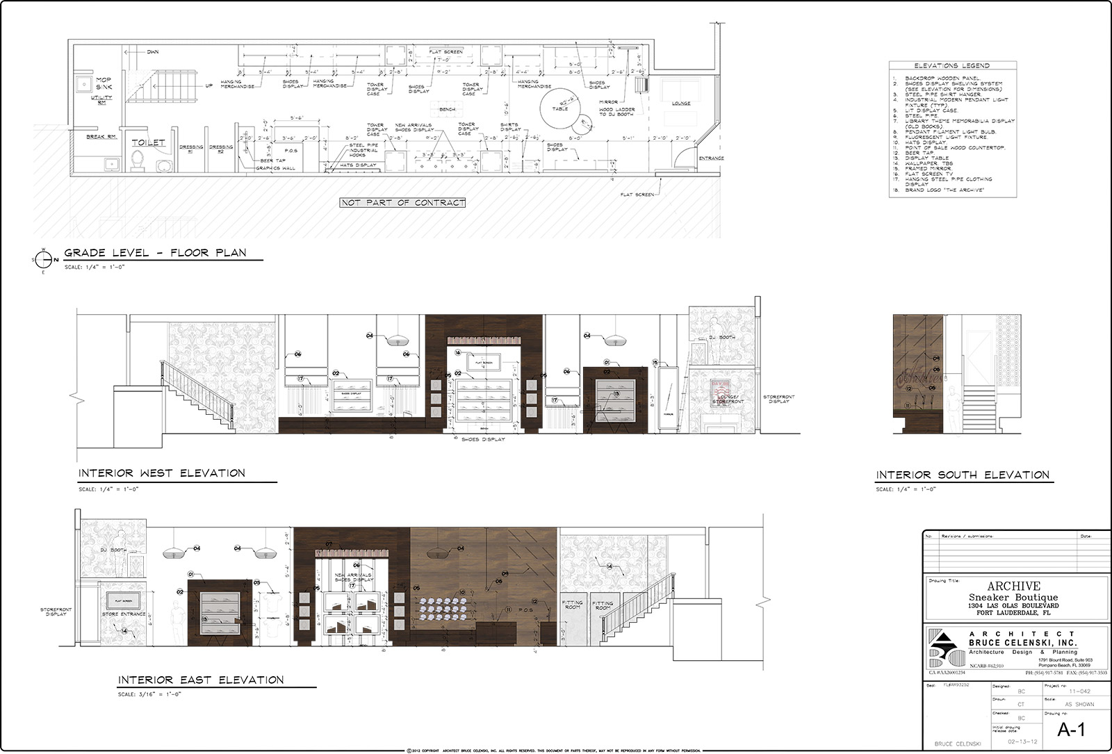 Fort Laudedrdale Architect Elevation