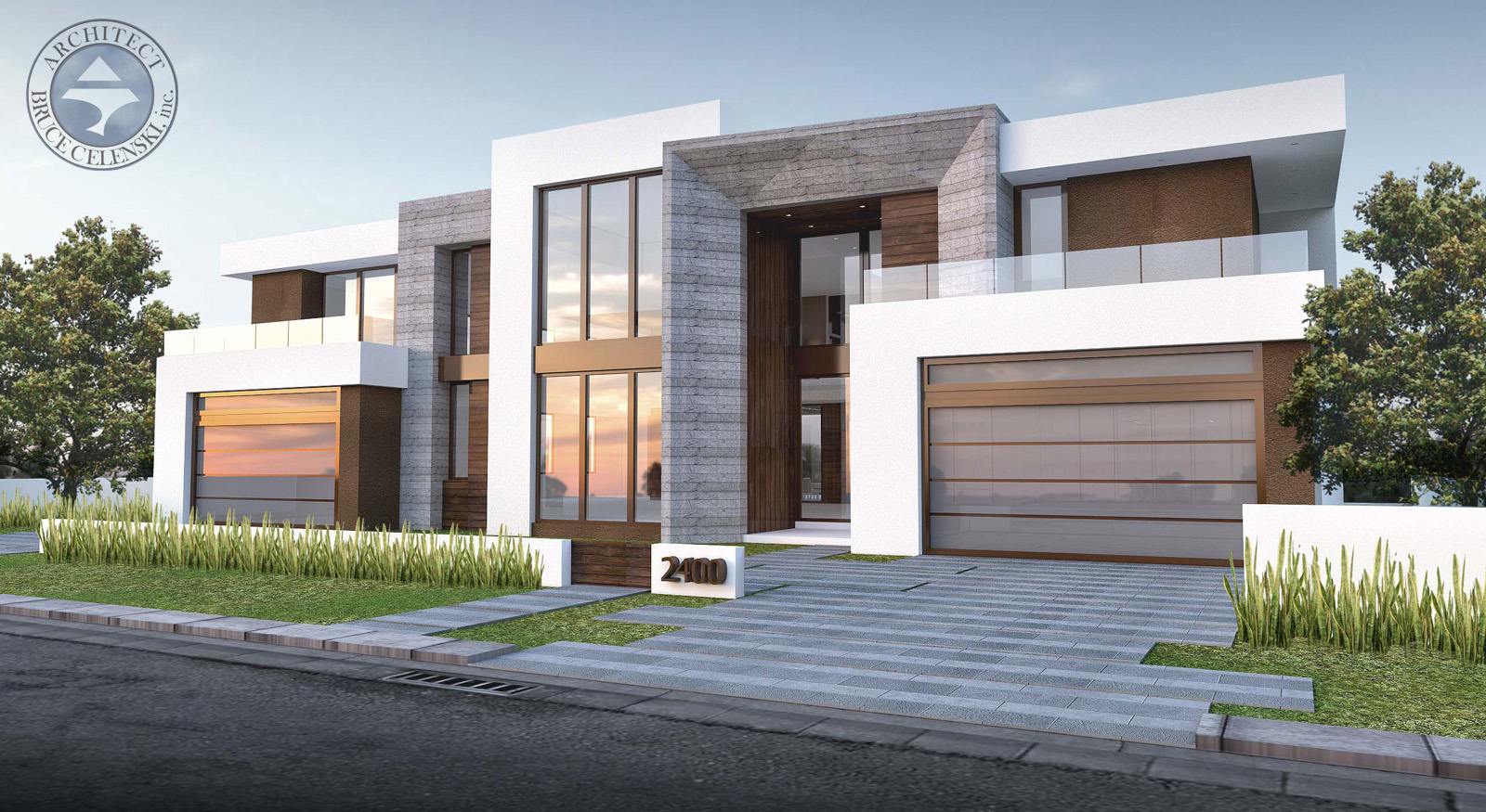 contemporary architect Castilla Isle home front view