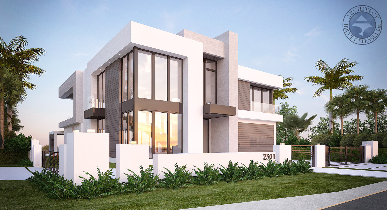 Fort Lauderdale contemporary architect front photo
