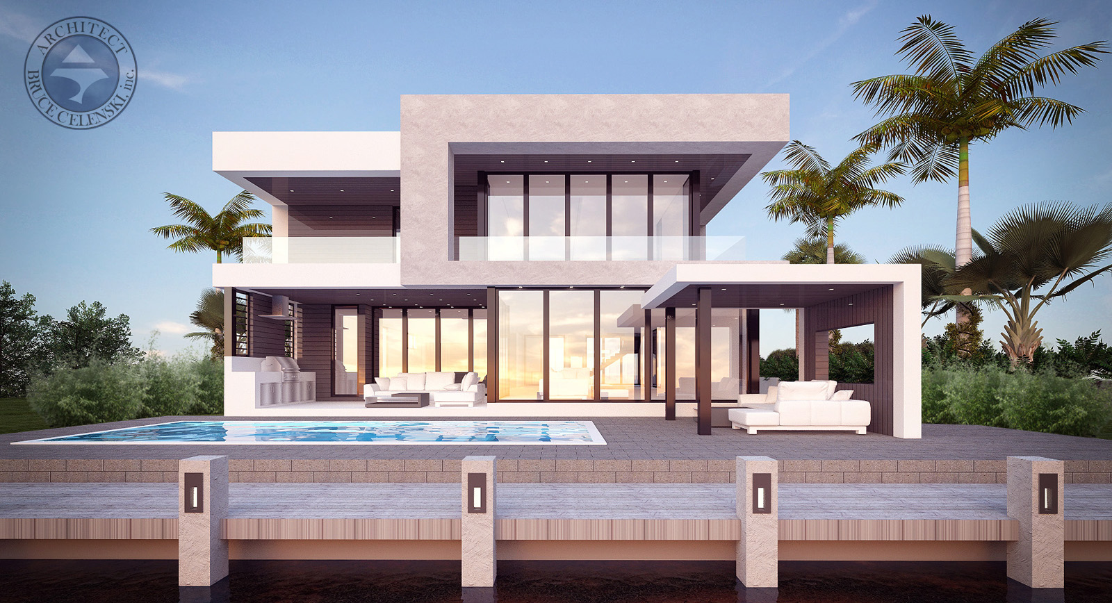 Fort Lauderdale contemporary architect seven isle rear photo