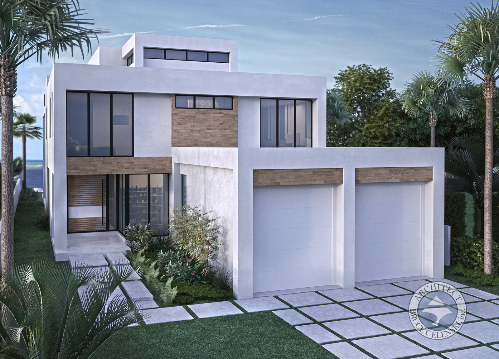 Fort Lauderdale architect luxury waterfront home front view
